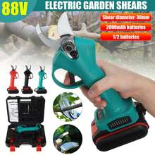 88V 30mm Wireless Electric Pruner Pruning Shear with 2x Battery Rechargeable Efficient Fruit Tree Bonsai Pruning Branches Cutter