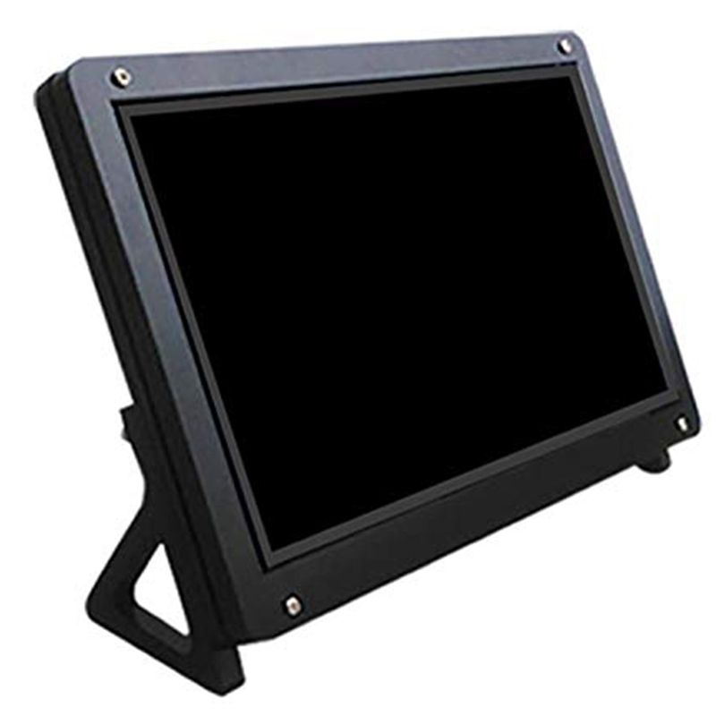 7 Inch Display Monitor LCD Case Support Holder for Raspberry Pi 3 Acrylic Housing Bracket LCD Black image