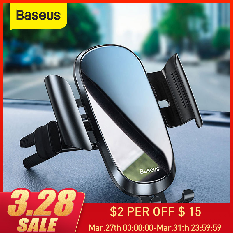 Baseus Car Phone Holder For IPhone XS MAX XR X 7 Only For Round Air Vent Phone Stand Holder Mount Car Smartphone Support Holder