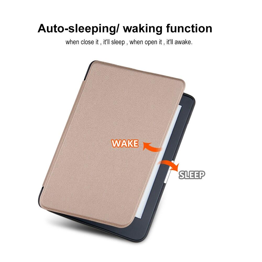 Тонкий чехол для электронной книги Kobo Clear HD 6 дюймов N249, умный защитный чехол, чехол из искусственной кожи с функцией автоматического сна/пробуждения-3