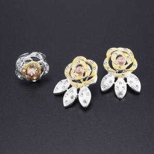 Image 4 - Nieuwe Dubai Bruids Sieraden Sets Voor Vrouwen Gouden Ketting Oorbellen Armband Ring Mode Charme Afrikaanse Bruiloft Nigeria Sets Sieraden
