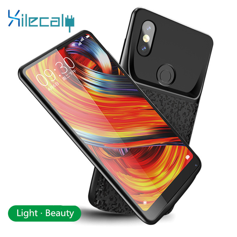 For Xiaomi Mix 2 <font><b>Battery</b></font> Charger <font><b>Case</b></font> for Xiaomi Mi 8 9 SE Mix 2 2s <font><b>6</b></font> 6XBackup Power Bank 5500mah External Charger Cover <font><b>Case</b></font> image