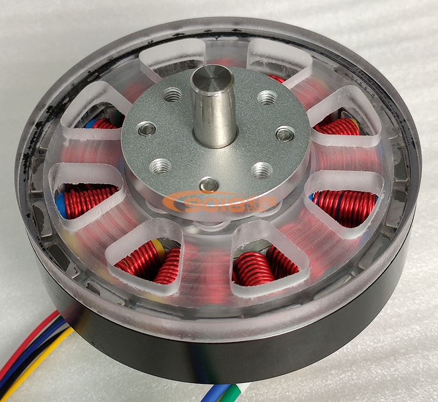 100W Disc Permanent Magnet Three Phase Brushless DC Motor / Motor 18N20P DC24V Inductive With Hall