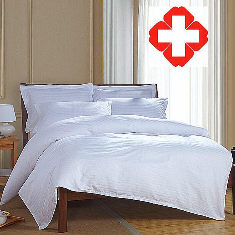 Хлопковая белая Больничная кровать, постельное белье, покрывало, медицинское постельное белье, покрывало, изготовлено на заказ|Наборы постельного белья|   | АлиЭкспресс