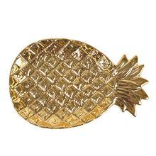 Золотой Ананасовое блюдо Nordic Керамика ананас мыльница шкатулка для украшений выпечка решетка для варки блюдо тарелка для фруктов, украшение для дома, подарок
