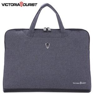 """Image 2 - Victoriatourist sacchetto Del Computer Portatile 14 """"15.6"""" degli uomini di affari delle donne borsa elegante sacchetto del messaggero Valigetta Portatile Leggero"""