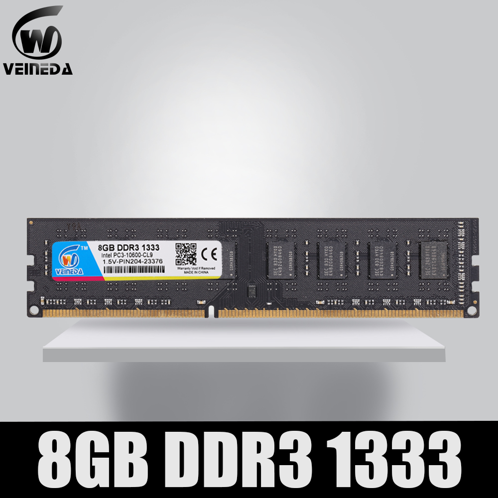VEINEDA <font><b>Ram</b></font> <font><b>ddr3</b></font> <font><b>memoria</b></font> <font><b>ddr3</b></font> <font><b>16gb</b></font> 4X4gb dimm <font><b>ddr3</b></font> 1333 For Intel AMD Desktop PC3-12800 <font><b>ddr3</b></font> 1600 240pin image