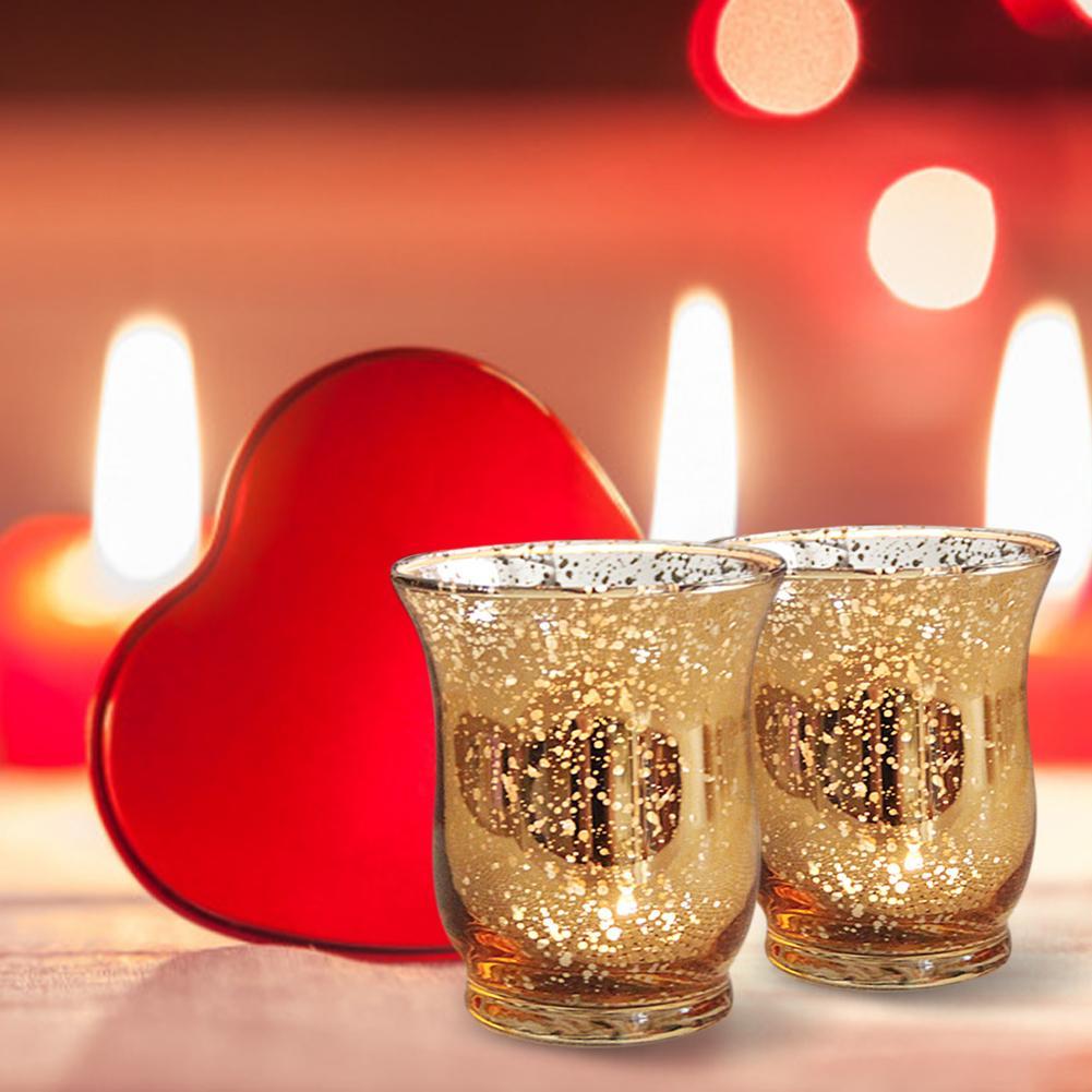 12 pièces porte-bougies en verre Votive photophore chandelier centres de table de mariage Parties Bar décoration de la maison cadeau