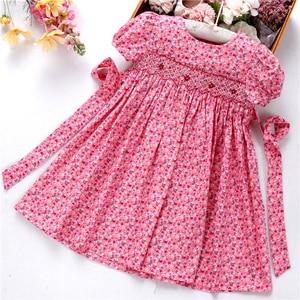 Image 1 - Smocked ชุดสำหรับหญิง frock handmade ผ้าฝ้ายเสื้อผ้าเด็กชุดเด็กฤดูร้อนเย็บปักถักร้อยโรงเรียนวันหยุดบูติก