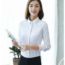 Spring New Women Blouse Office Lady Work Shirts Long Sleeve