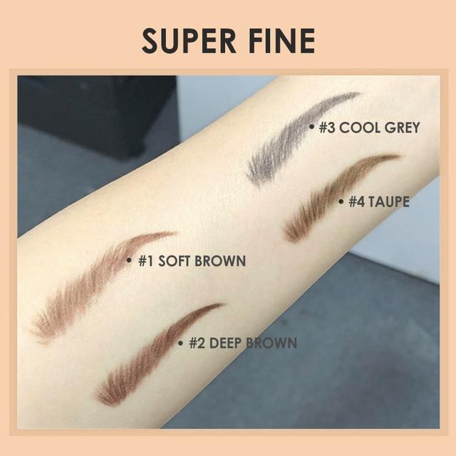 FOCALLURE Artist Sketch Eyebrow Pencil Waterproof Natural Long Lasting Tint 4 Color Brows Eye Makeup Eye Brow 4