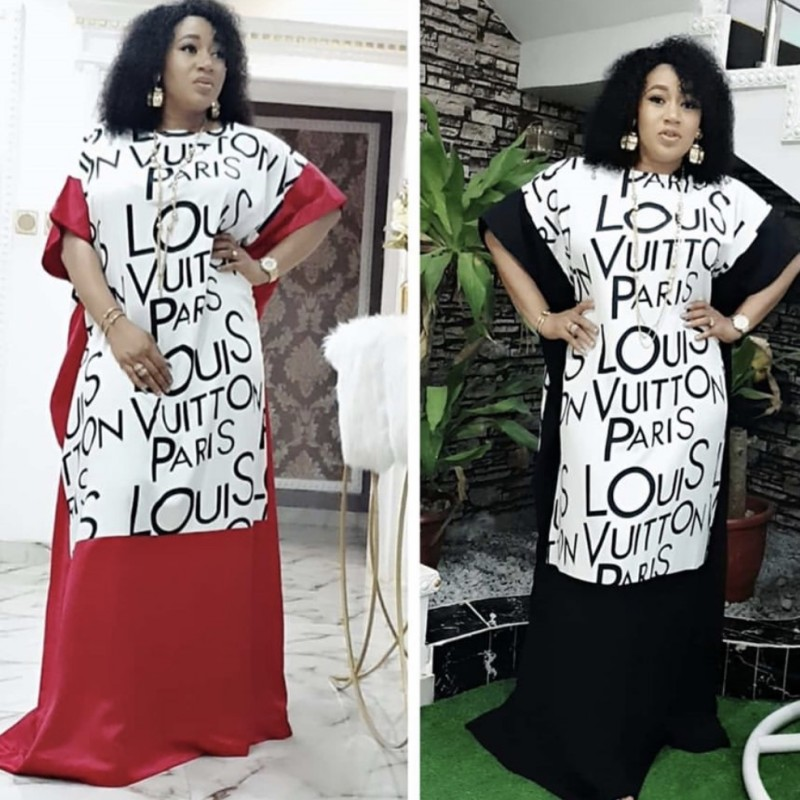 Letter Print Long Maxi Dress 2020 African Dresses For Women Dashiki Summer Dress Ladies Traditional African Clothing Fairy Dress