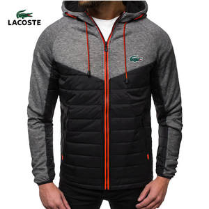 Casual Coat Sweatshirts Jacket Hoody Hooded-Cardigan Printed Thin Fleece Lacoste-New