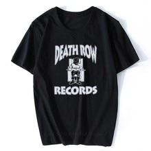Camiseta de manga curta preta t camisa de algodão impresso camiseta de rap de música superior tupac 2pac dre