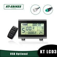 Kt ebike lcd3 display 24v 36v 48v 72v lcd3 kt-display lcd led para kit de conversão de bicicleta elétrica ebike