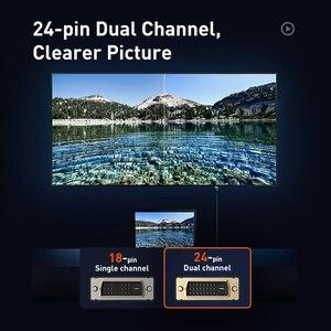 Image 5 - Baseus DVI ל dvi כבל כפול קישור DVI D זכר לזכר DVI D 24 + 1 וידאו כבל עבור מקרן HDTV מחשב מחשב מתאם DVI חוט כבל