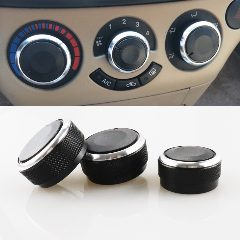 For Chevrolet Chevy <font><b>T250</b></font> <font><b>Aveo</b></font> Aveo5 Lova 250 Daewoo Gentra Auto Air Conditioning Switch Cover A/C Heat Control Knob Buttons image