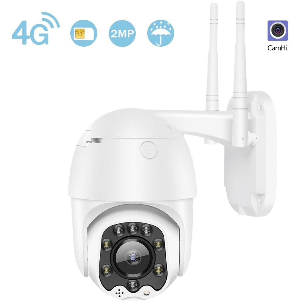 Enfoque Autom/áTico Visi/óN Nocturna Sistema de C/ámara Domo IP CCTV Audio Bidireccional EU 3G // 4G 1080P C/ámara de Vigilancia de Seguridad C/ámara de Seguridad para Exteriores