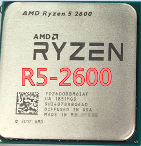 AMD Ryzen 5 2600 R5 2600 3.4 GHz Six-Core Twelve-Core 65W CPU Processor YD2600BBM6IAF Socket AM4 2600