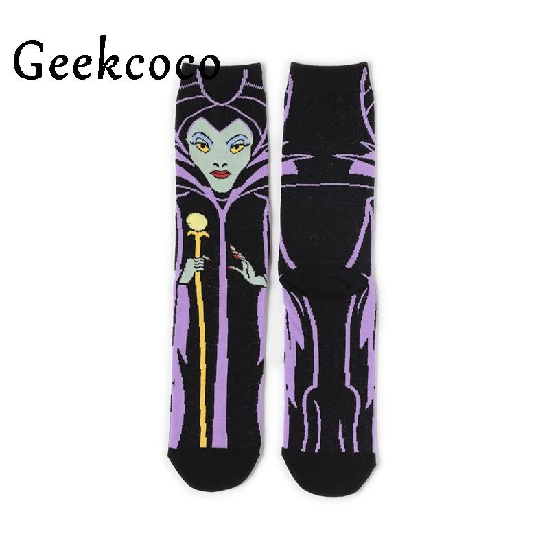 Maleficent Cartoon Fashion Men Wemen Unisex Casual Non Slip Breathable Comfortable Long Sock New Clothing Accessory J0792