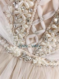 Image 5 - Elegant Wedding Dresses 2019 Off the Shoulder Champagne Wedding Gown 2019 Crystal Beaded Top Tulle Vetsido de Novia WN10