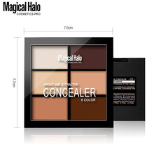 brand 6 color Natural Professional Concealer Palettes makeup Facial Fac