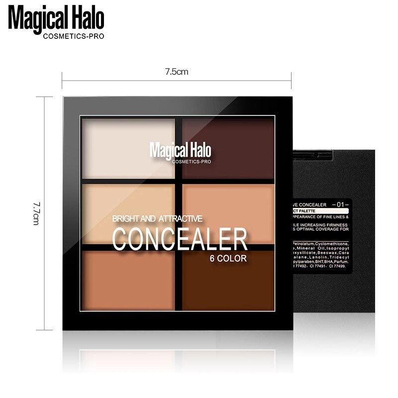 Marque 6 couleurs naturel professionnel correcteur Palettes maquillage visage crème cosmétique maquillage crème contour poudre en gros