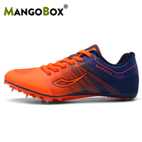 Hot Men Running Spikes For Track Brand Designer Shoes Men Health Green Orange Boy Track And Field Shoes Anti Slip Feiyue Shoes