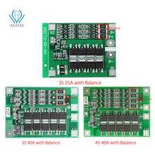 3S 4S 25A 40A 18650 Lithium Batterij Bescherming Boord 11.1V 12.6V 14.8V 16.8 Hoge Stroom met Gebalanceerde Over Lading Ontlading