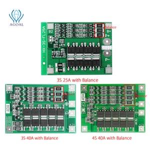 Image 1 - 3S 4S 25A 40A 18650 carte de Protection de batterie au Lithium 11.1V 12.6V 14.8V 16.8 courant élevé avec décharge de surcharge équilibrée