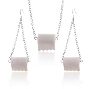 Lovely Paper Earring New Design Novelty Fashion Roll Tiolet Paper Towel Dangle Drop Earring For Women Jewelry Gift(China)