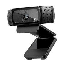 Logitech câmera c920c c920e c920 pro, usb inteligente hd, 1080p, para laptop, para escritório, reunião marca quente