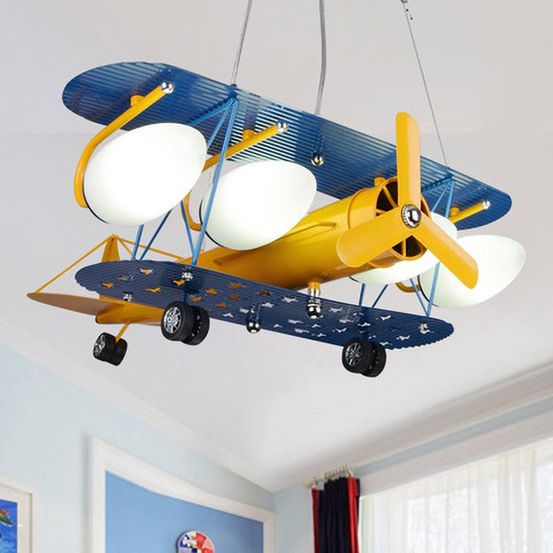 Fashion Style Led Lights With Bulb Airplane Chandelier Children's Room Lighting Fixtures Boy Bedroom Cartoon Boys Hanging Lamp Kids Cute Gift Available In Various Designs And Specifications For Your Selection