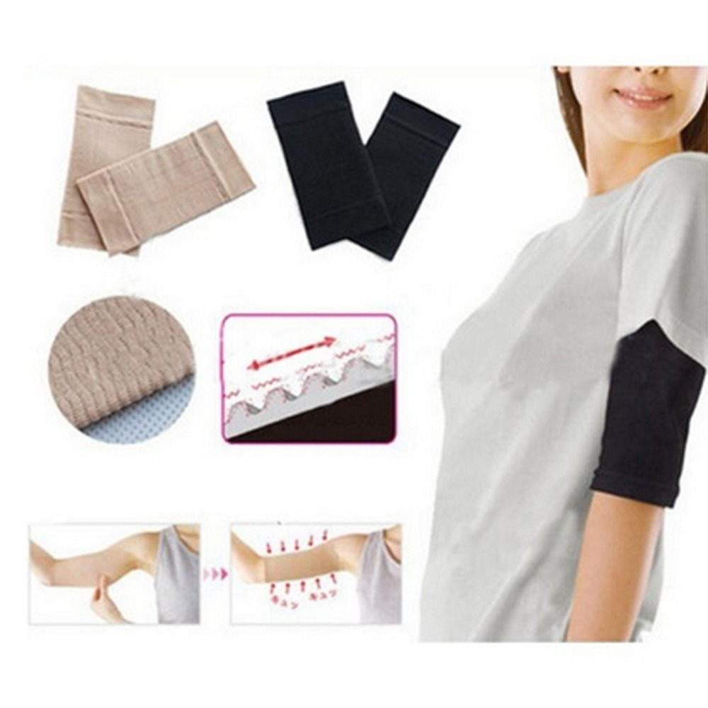 Hot Sale Arm Shaper Women Fat Burning Thin Arm Elastic Sleeve Armband Arm Warmers Black Beige Colors Drop Shipping