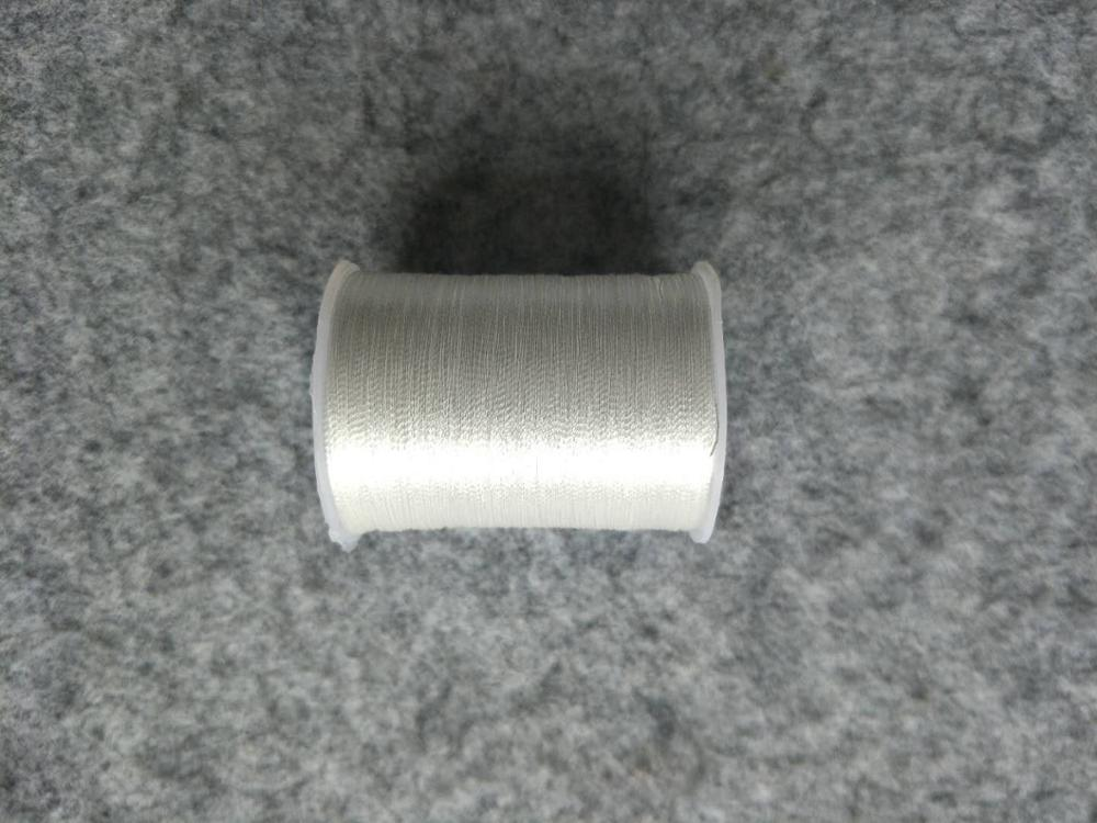 Металлическая нить для вышивки, аксессуары для одежды DIY, основные 15 видов цветов на выбор, нить для шитья, 1 шт - Цвет: white