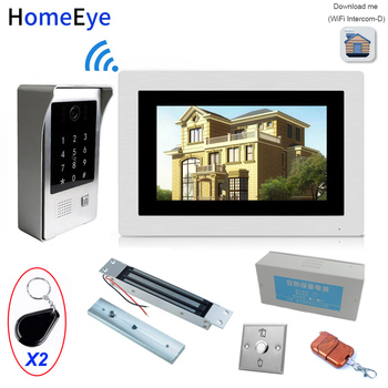 IP Wifi Video Door Phone Intercom Access Control System+Electronic Magnetic Lock+Power Control Box+Open Switch+Remote Control цена 2017