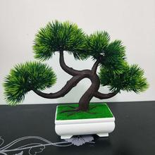 Mini Artificial Pine Tree Faux Plant Bonsai Cafe Office Home Desk Decoration No Watering Realistic Decor