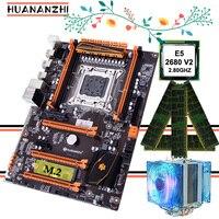 Promocyjna płyta główna HUANANZHI Deluxe gaming X79 z procesorem M.2 Xeon E5 2680 V2 SR1A6 z chłodnica procesora RAM 16G (4*4G) RECC w Płyty główne od Komputer i biuro na