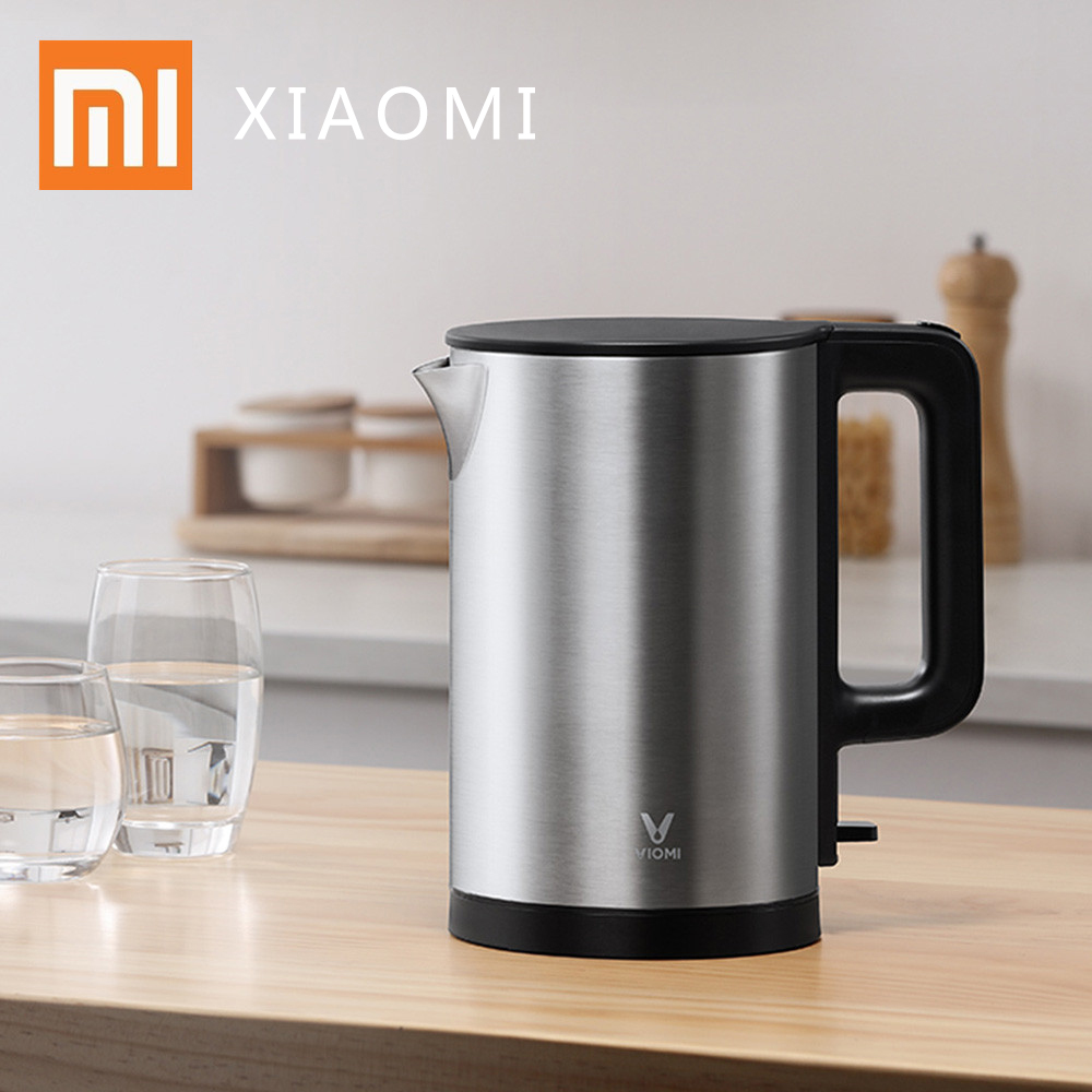 Xiaomi VIOMI Electric Kettle 1.5L Intelligent Thermostat Anti-scalding Household 304 Stainless Steel 1800W Electric Kettle