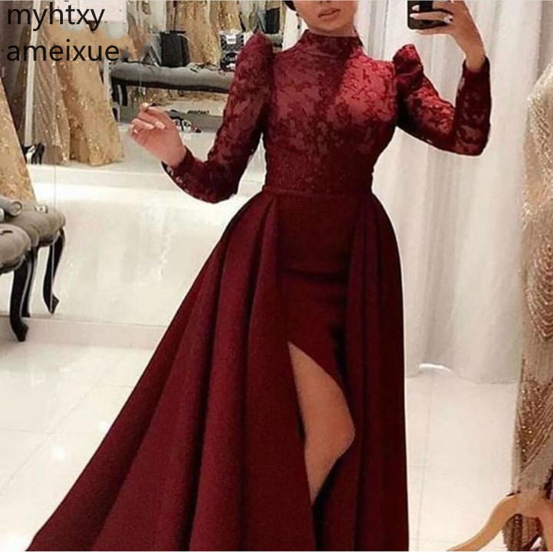 Hot New Ever Pretty Event Long Sleeve Plus Size Custom Evening Dresses 2019 Sexy Formal Dress Women Elegant Gown Robe De Soiree