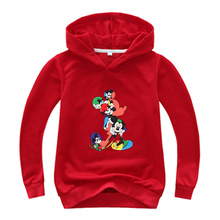 Hoodies Children Clothing Mickey Baby Boys Girls Sweatshirt Cotton Spring Autumn Kids Clothes Pullover Tops Teenage Outerwear