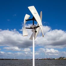 R&X CE 500w Vertical White Wind Turbine X type Wind Free Energy Power Generator White 24v Strong 3 Blades  with Free Controller 2015 2 x 500w
