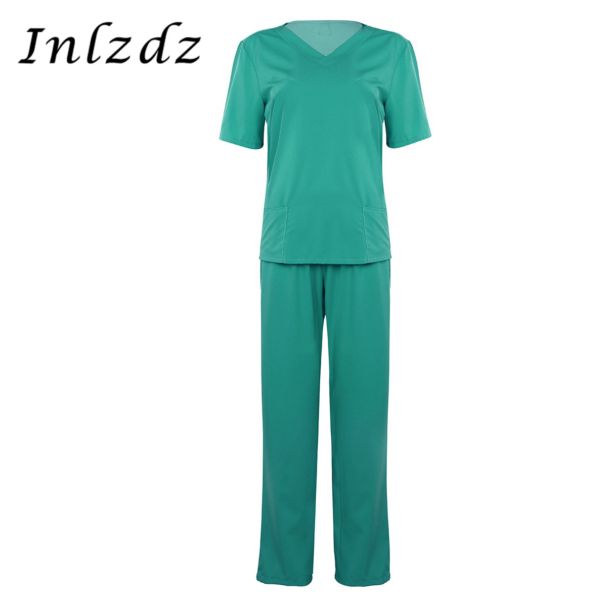 Medical Work Clothes for Women Wear Doctor Sets Scrub Nurse Uniforms Hospital Clothing Top and Pants Cheap Suits Lab Workwear image