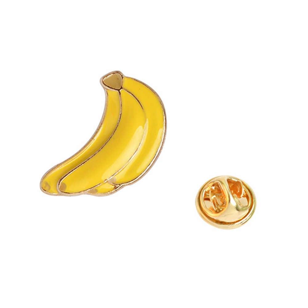 1 Buah Pisang Strawberry Semangka Kiwi Apple Orange Pine Apple Bros Pin Tombol Denim Jaket Pin Lencana Kartun Buah Perhiasan