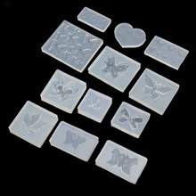 Cute Butterfly Silicone Resin Molds Earring Necklace Pendant Jewelry Tools