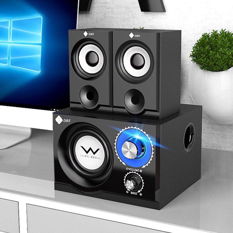 Bluetooth Speakers 4 Inch Bass 2.5 inch Full Range Wooden Speaker Desk Computer Home Subwoofer 3D Surround Stereo Louderspeaker