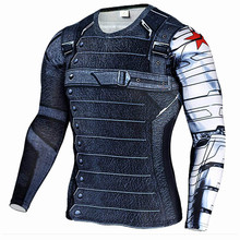 лучшая цена Soldier 3D Printed Sport Shirt Men Running Shirts Fitness Tights Men Cycling Quick Dry Rashguard MMA Compression Tops