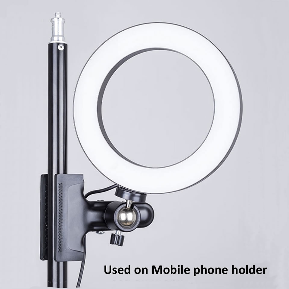 OUTMIX 26cm Protable Selfie Ring Light for Youtube Live Streaming Studio Video LED Dimmable Photography Lighting OUTMIX 26cm Protable Selfie Ring Light for Youtube Live Streaming Studio Video LED Dimmable Photography Lighting With USB Cable