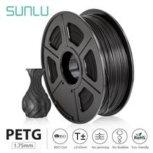 SUNLU PETG 3D Printer Filament 1.75mm 1KG 2.2lbs Spool support defferent material 3D Printer Refill full color 3D filament order