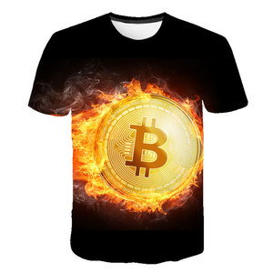 New 2019 Summer T Shirts Bitcoin In Cryptography We Trust Men's O Neck Moon Short Sleeve Cryptocurrency T-Shirt Men Funky Tees(China)